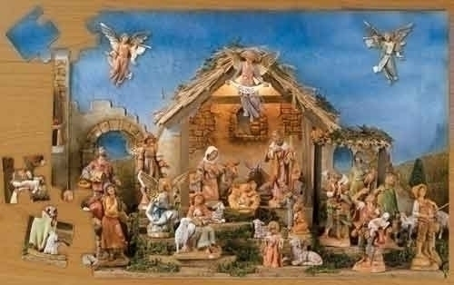 Fontanini Retired 48 Pc Nativity Puzzle Retired - Nativity Village Collectible 65405 at Sears.com