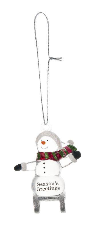 Ganz Sledding Snowman - Season's Greetings  - Ornaments NEW Gifts  Christmas SLX2353-GANZ at Sears.com