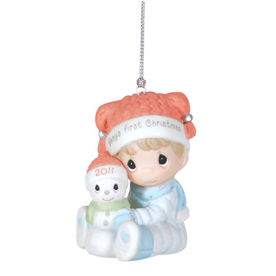 Precious Moments Baby Boy's First Christmas Ornament 2011 * 2012 Christmas Collectable PM at Sears.com