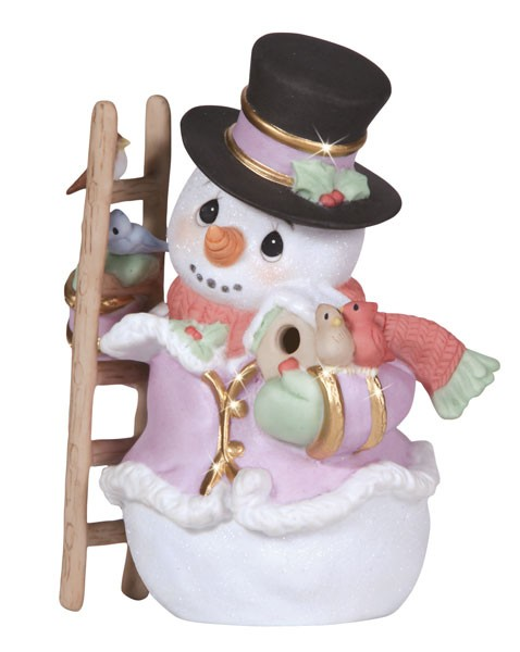 Precious Moments Snow Place Like Home - Snowman Figurine  - Porcelain Christmas New 2013 131024-PM at Sears.com